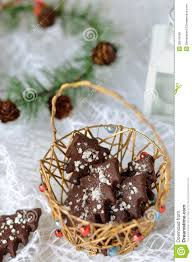 christmas chocolate cookies royalty free stock images image