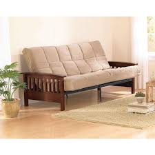 amazon com better homes and gardens neo mission futon brown