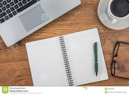 Work Desk Laptop Notebook And Coffee Cup On Work Desk Stock Photo Image