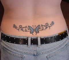 mister tattoos lower back butterfly tattoos