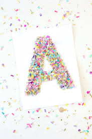 monogram letter confetti crafts monogram letter mod podge rocks
