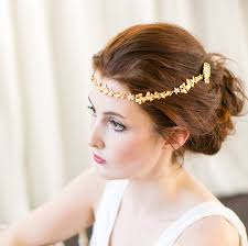 forehead bands gold orchid bridal forehead band by millesime