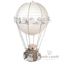 Wohnzimmerlampe Grau Pasito A Pasito Babyzimmerlampe Heissluft Ballon Vichy Grau Bei
