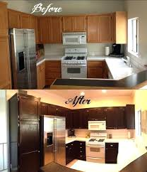 restaining cabinets darker without stripping restain kitchen cabinets before and after hitmonster