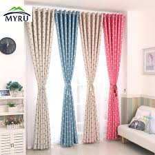 2017 polka dots blackout window curtains children curtain for