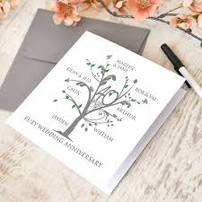 Ruby Anniversary Invitation Cards Personalised Ruby Anniversary Family Tree Cushion By A Type Of