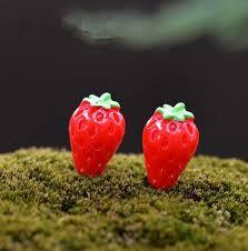 Strawberry Home Decor 10pcs Lot Strawberry Garden Gnome Plant Moss Terrarium Home