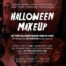 halloween makeup by pro ben bornstein beauty bar