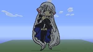 shizune and wahaha minecraft 360 pixel art by splintz on