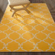 Yellow Lattice Rug Trellis Area Rug Yellow Ivory 5x7 Lattice Carpet Contemporary