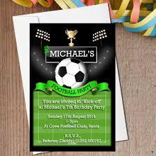 football birthday party invitations themesflip com