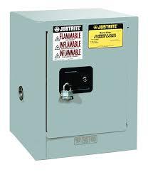 Justrite Flammable Liquid Storage Cabinet Sure Grip Ex Countertop Safety Cabinet 4 Gal 1 Shelf 1 Dr