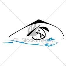 swimming swimmer vector sketch silhouette gl stock images