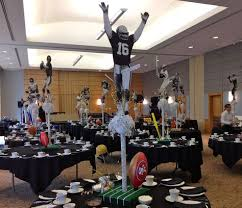 football centerpieces image result for bar mitzvah retro football centerpieces