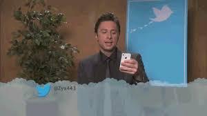 Zach Braff Meme - reading mean tweets zach braff