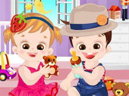 cute twins dress up cooking games