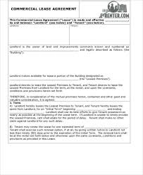 simple commercial lease agreement 9 examples in word pdf
