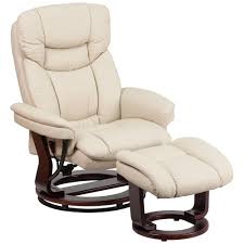Burgundy Leather Chair And Ottoman Flash Furniture Contemporary Beige Leather Recliner And Ottoman