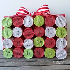 tp roll christmas countdown advent calendar upcycle your toilet