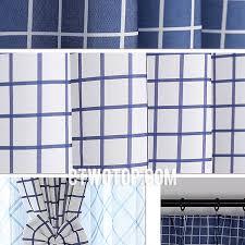 Blue Plaid Curtains Fabric Half Price Cheap Blue And White Plaid Curtains