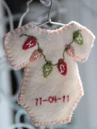 season diy babys footprint ornament for