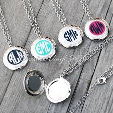 monogrammed locket custom monogram locket necklace creative vinyl for you