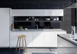 cuisine blanche design stunning cuisine noir et blanc pictures design trends 2017