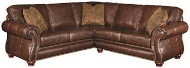 Rustic Leather Couch Brown Distressed Leather Sectional Sofa With Traditional Design Of