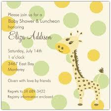 giraffe themed baby shower baby shower invitations with giraffes wally designs