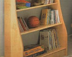 Bookshelf Woodworking Plans by Kids Bookcase Etsy