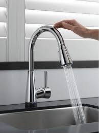 touchless faucet kitchen the touch2o touch faucet technology delta faucet inside no touch