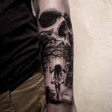 forearm skull tattoos skull and swing tattoo tatueringar och inspiration pinterest