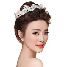 hair accessories malaysia lace rhinestone crown bridal wedding hair accessories 11street