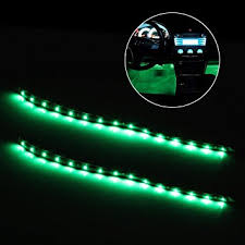 green led dash lights amazon com partsam led green 2x 12 interior strip footwell lights