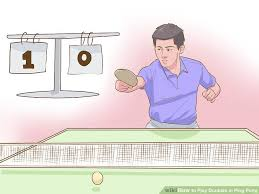 Table Tennis Doubles Rules How To Play Doubles In Ping Pong 9 Steps With Pictures
