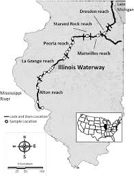 Maps Of Illinois by Map Of Illinois And The Illinois River Usa Illustrating The