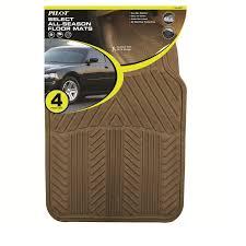 Non Slip Rubber Floor Mats Pilot Automotive All Season 4 Pc Rubber Floor Mat Set Tan