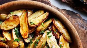 Thanksgiving Potato Recipe Lemon And Parsley Skillet Roasted Fingerling Potatoes Recipe Bon