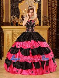 birthday dress black and taffeta quinceanera dress with beading and