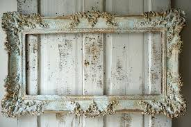 soft blue picture frame wall hanging shabby french chic distressed
