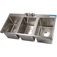 3 bay stainless steel sink bk resources three compartment drop in sink 10 x 14 w faucet bk