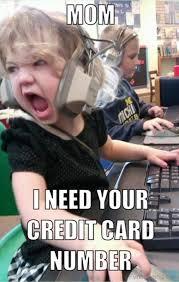 Meme Credit Card - 65 selected mom memes