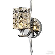 Bedroom Wall Lamp by Modern Bedroom Crystal Wall Light Polished Chrome Base Living