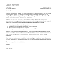 Best General Manager Cover Letter Examples   LiveCareer LiveCareer General Manager Cover Letter Examples