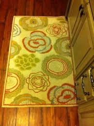 Kitchen Runner Rugs Washable 3x4 Kitchen Rug Washable Mat Rugs Leaves Branches Beige Beige