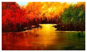 oil painting abstract landscape color forest