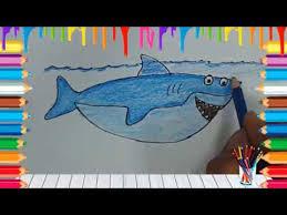 film kartun ikan hiu cara menggambar dan mewarnai kartun ikan hiu youtube