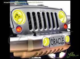 light yellow jeep oracle 07 16 jeep wrangler plasma halo rings headlights bulbs