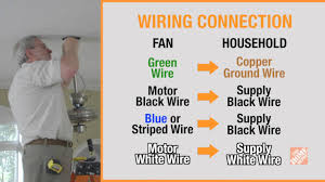 Ground Wire For Ceiling Fan by How To Install A Ceiling Fan Step 5 Wire The Fan Youtube