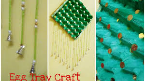 diy recycling egg tray how to make wall hanging at home youtube